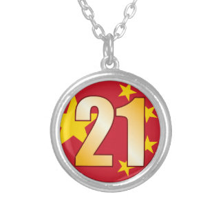 21 CHINA Gold Silver Plated Necklace