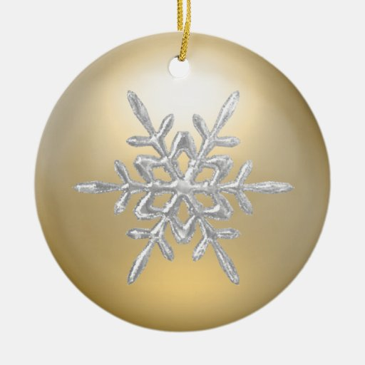 21 Color Options Icy Snowflake Ornament