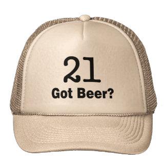 21 consiguió la cerveza gorros