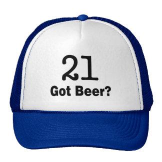 21 consiguió la cerveza gorro de camionero