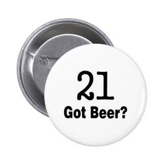 21 consiguió la cerveza pins