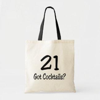21 consiguió los cócteles bolsa tela barata