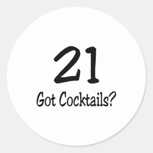 21 consiguió los cócteles pegatina redonda