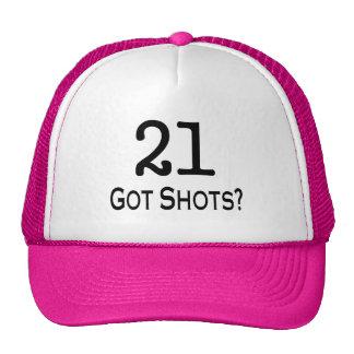 21 consiguió tiros gorro