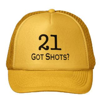 21 consiguió tiros gorras de camionero