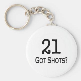 21 consiguió tiros llaveros