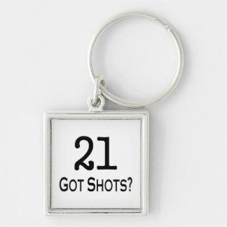 21 consiguió tiros llavero