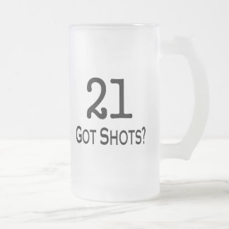 21 consiguió tiros tazas