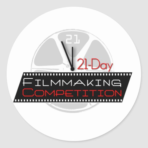 21-Day Filmmaking Competition Classic Round Sticker
