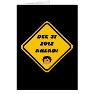 21 de diciembre de 2012 a continuación tarjeta de felicitación