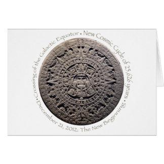 21 DE DICIEMBRE DE 2012: El nuevo principio conmem Tarjeta De Felicitación
