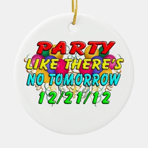 21 de diciembre de 2012 - extremo del mundo adorno navideño redondo de cerámica