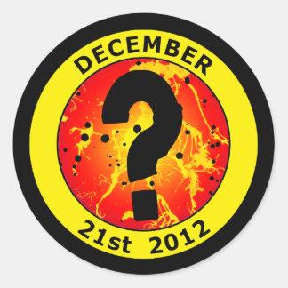 21 de diciembre de 2012 pegatina redonda