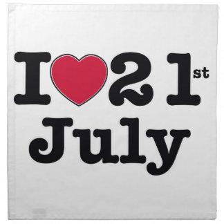 21 de julio mi día de cumpleaños servilleta de papel