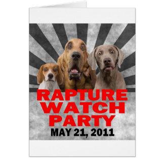 21 de mayo de 2011 camisa del fiesta del reloj del tarjeta de felicitación