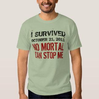 21 de octubre de 2011 ningún Mortal puede pararme Remera