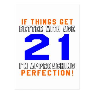 21 diseños del cumpleaños de la perfección tarjetas postales