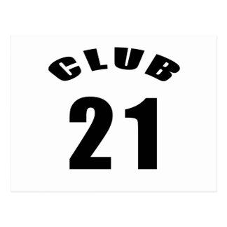 21 diseños del cumpleaños del club postal