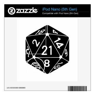 21 echó a un lado el 21ro videojugador de la fanta iPod nano 5G skins