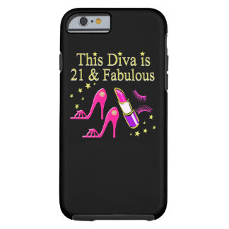 21 & FABULOUS PINK SHOE AND LIPSTICK DIVA DESIGN TOUGH iPhone 6 CASE