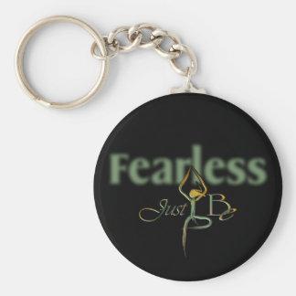 21 Fearless Basic Round Button Keychain