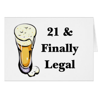21 & Finally Legal Greeting Cards
