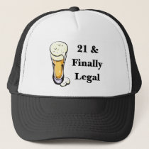 21 & Finally Legal Trucker Hat