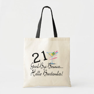 21 Good Bye Bouncer Hello Bartender Canvas Bags