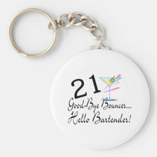 21 Good Bye Bouncer Hello Bartender Keychain