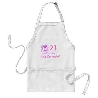 21 Good Bye Bouncer Hello Bartender (Pink) Adult Apron