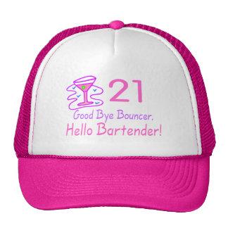 21 Good Bye Bouncer Hello Bartender (Pink) Trucker Hat
