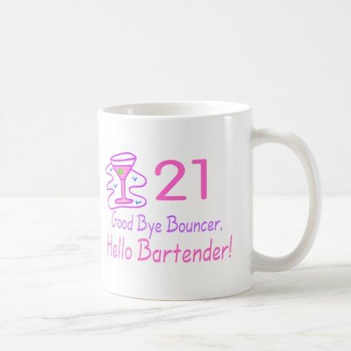 21 Good Bye Bouncer Hello Bartender (Pink) Mug