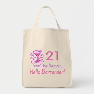 21 Good Bye Bouncer Hello Bartender (Pink) Tote Bag
