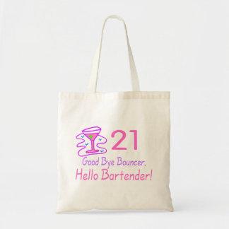 21 Good Bye Bouncer Hello Bartender (Pink) Tote Bag