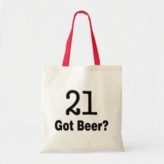 21 Got Beer Canvas Bag