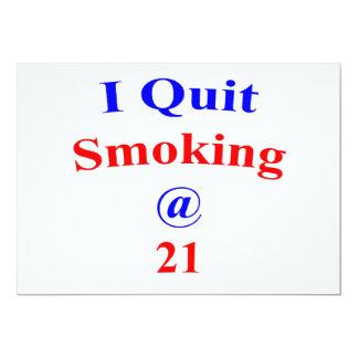 21 I Quit Smoking Card