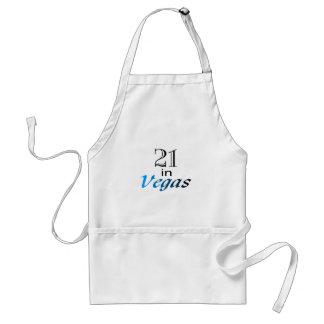 21 In Vegas (blue) Adult Apron