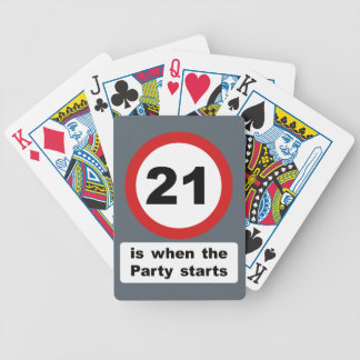 21 is when the Party Starts Bicycle Playing Cards