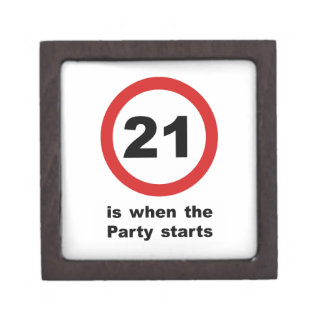 21 is when the Party Starts Keepsake Box