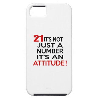 21 it's not just a number it's an attitude iPhone SE/5/5s case
