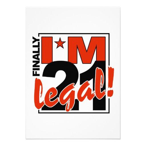 21 & LEGAL invitation, customize