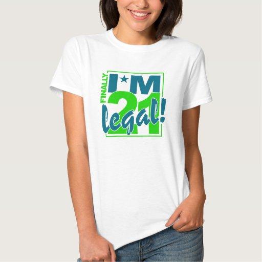 21 & LEGAL shirt - choose style & color