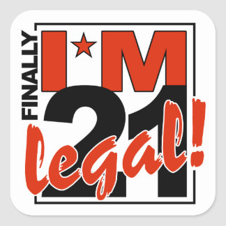 21 & LEGAL stickers