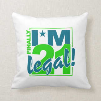21 & LEGAL throw pillow