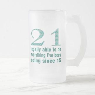 21/legalmente capaces de hacer… hacer desde 15 taza cristal mate