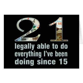 21/legalmente capaces de hacer… hacer desde 15 (Ve Tarjeta De Felicitación