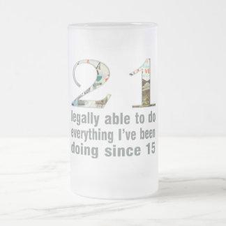 21/legalmente capaces de hacer… hacer desde 15 (Ve Taza Cristal Mate