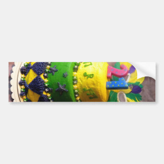 21 Mardi Gras Cake Bumper Sticker