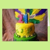 21 Mardi Gras Cake Card