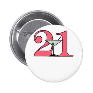 """""""21"""" Martini design Button"""